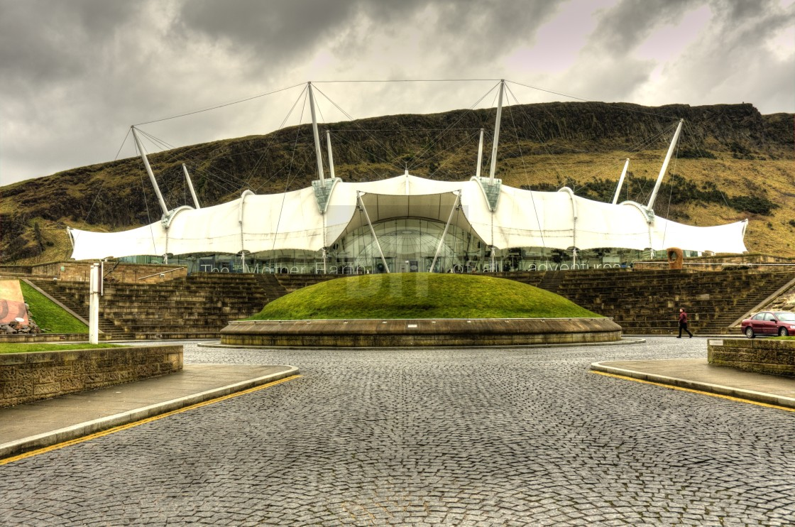"""Dynamic Earth, Edinburgh"" stock image"