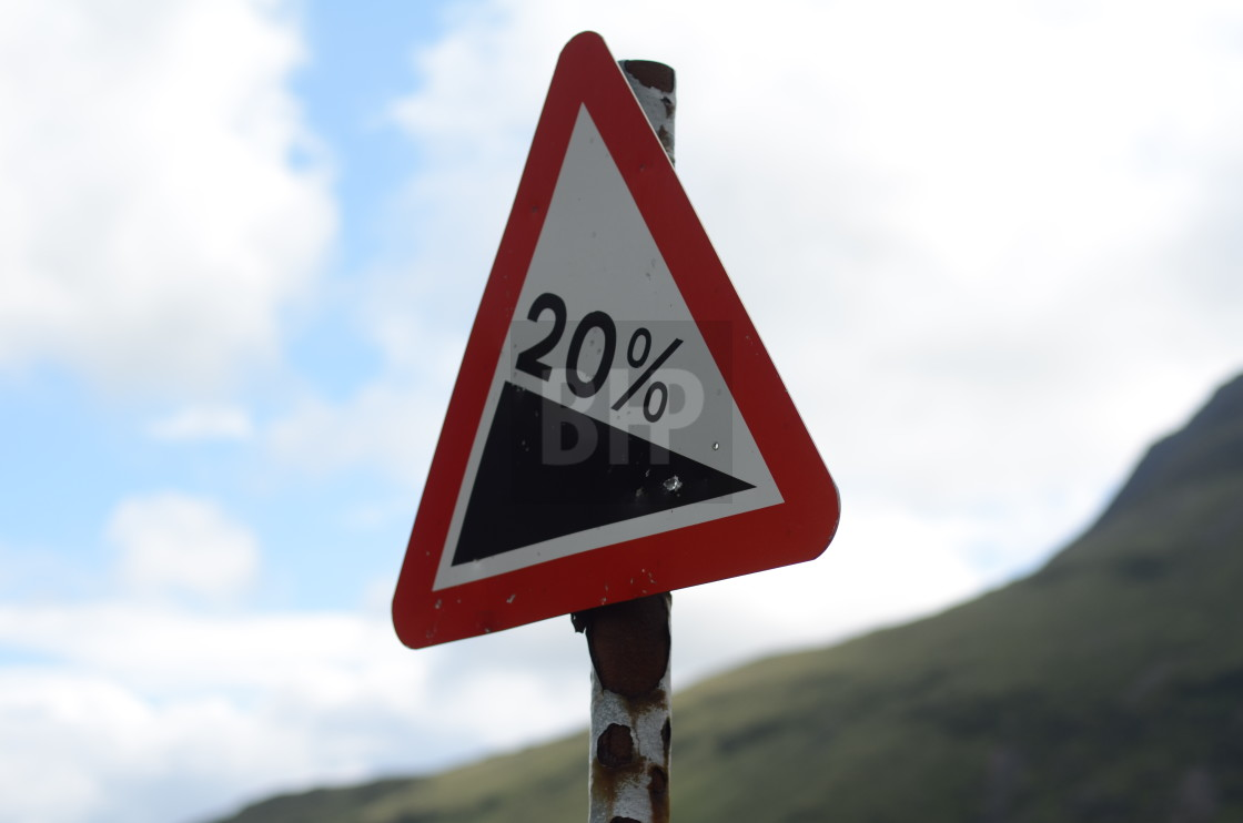 """20% gradient sign"" stock image"