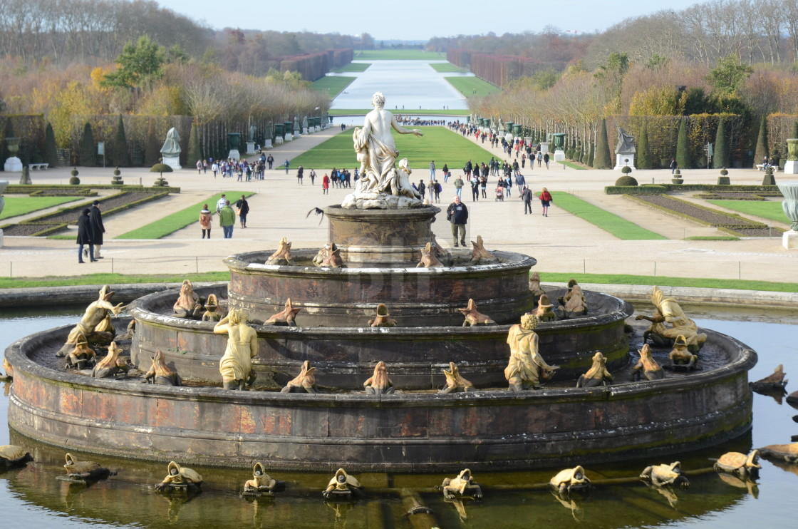 """Gardens of the Palace of Versailles"" stock image"