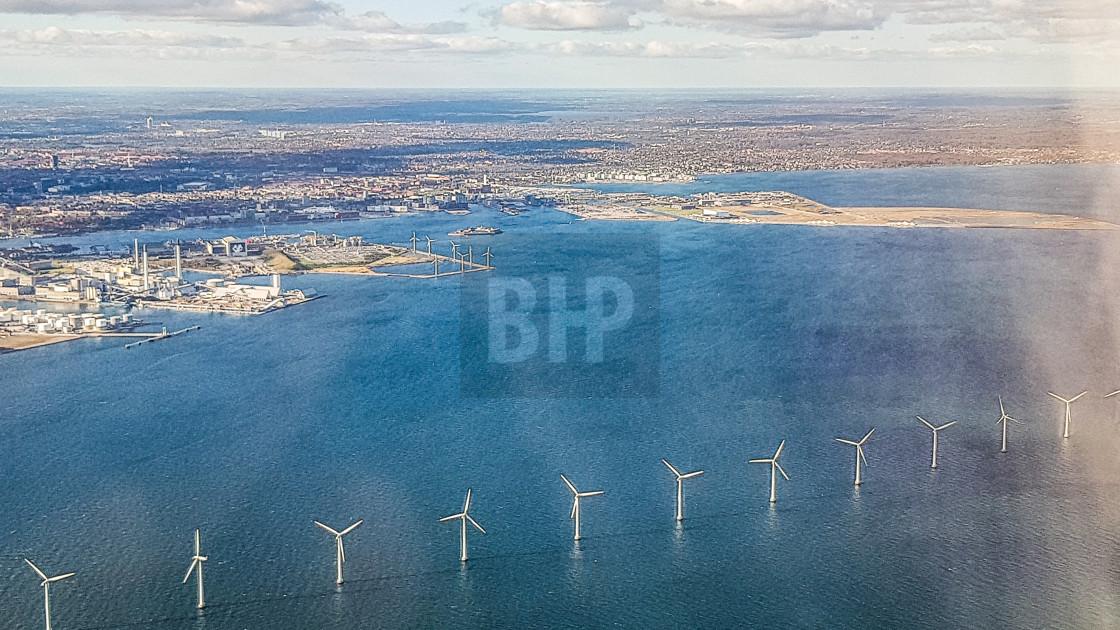 """Wind Turbines, Copenhagen"" stock image"