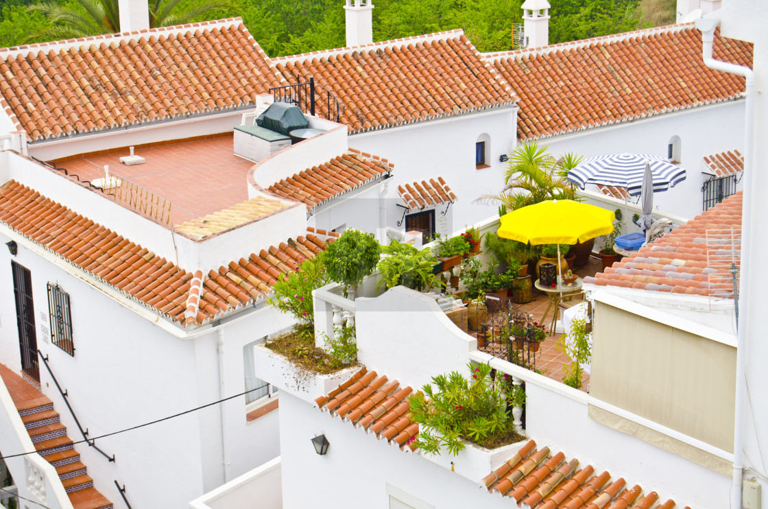 """Spanish Rooftops"" stock image"