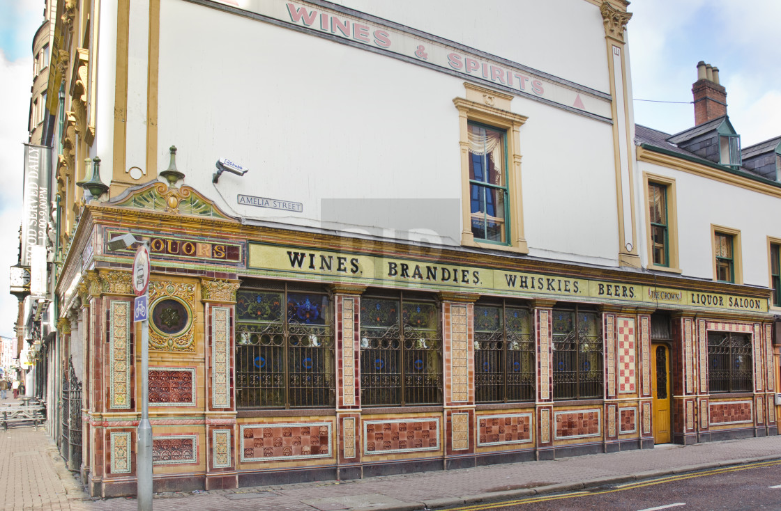 """Crown Liquor Saloon, Belfast"" stock image"