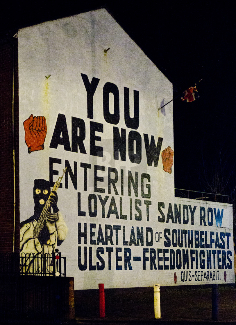"""Sandy Row Mural, Belfast"" stock image"