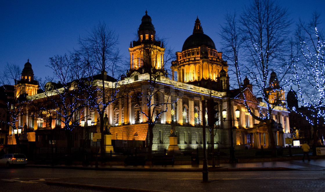 """Belfast City Hall"" stock image"