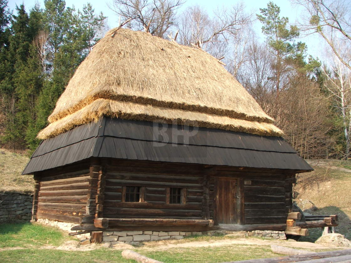 """National Museum of Folk Architecture and Life of Ukraine (Pyrohiv/Pirogovo)"" stock image"