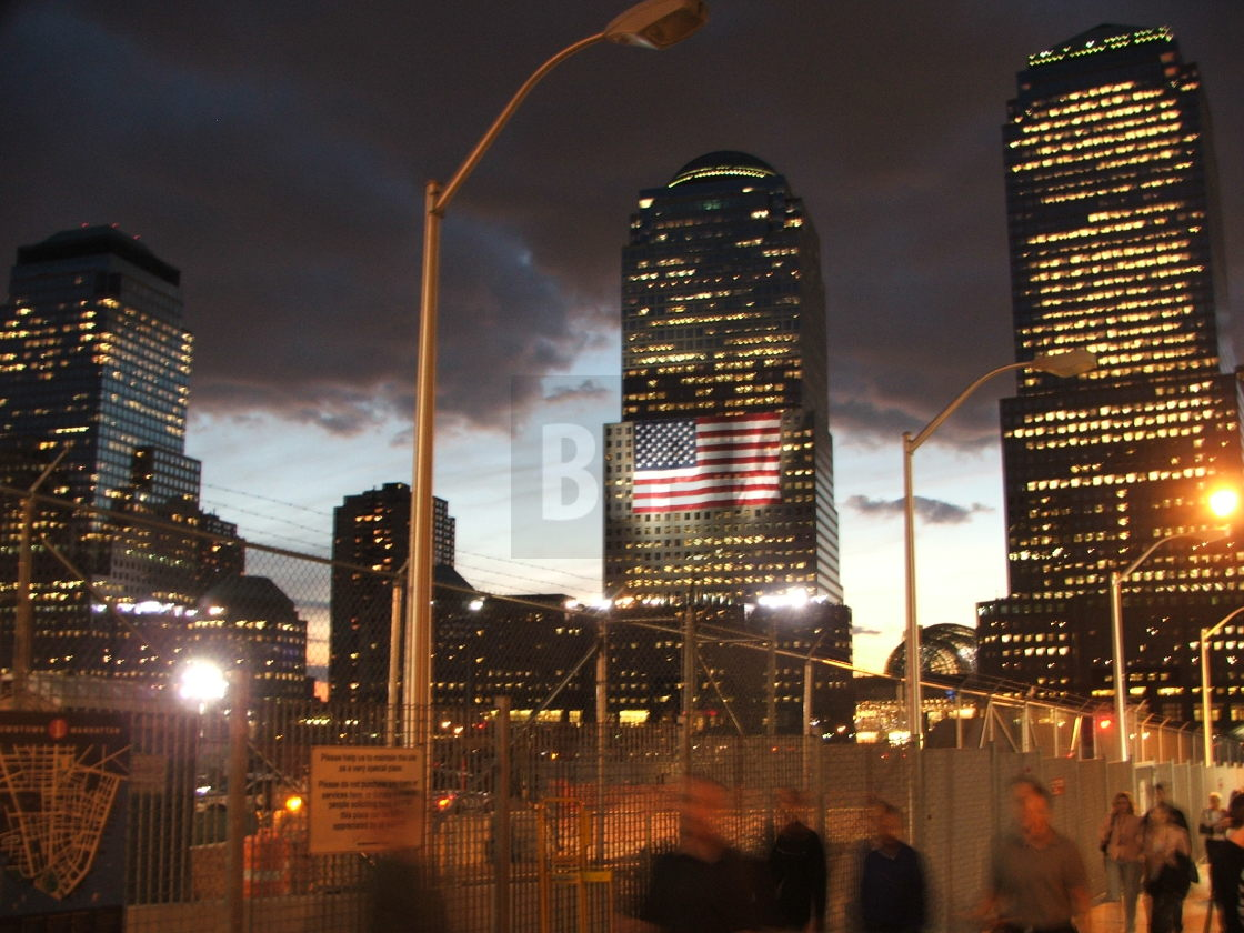 """Ground Zero, NYC, September 11th 2006"" stock image"