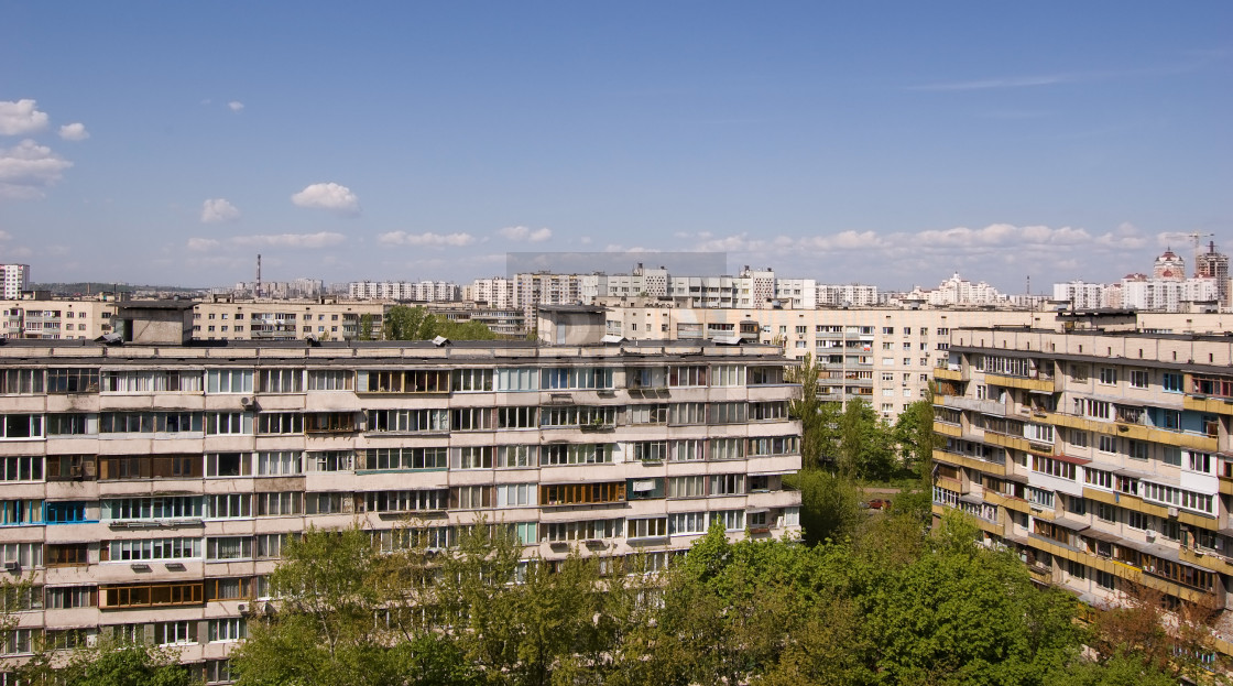 """Soviet Era Apartment Blocks"" stock image"