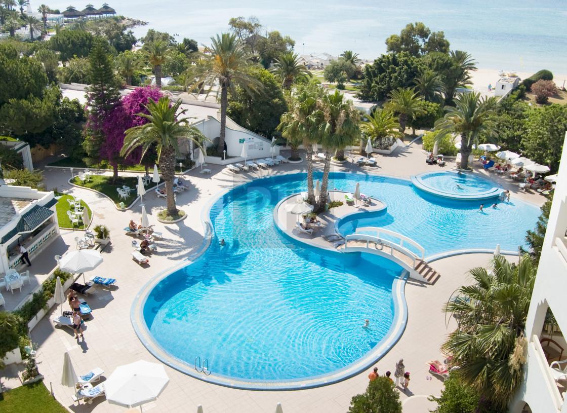 """Hotel Swimming Pool, Tunisia"" stock image"