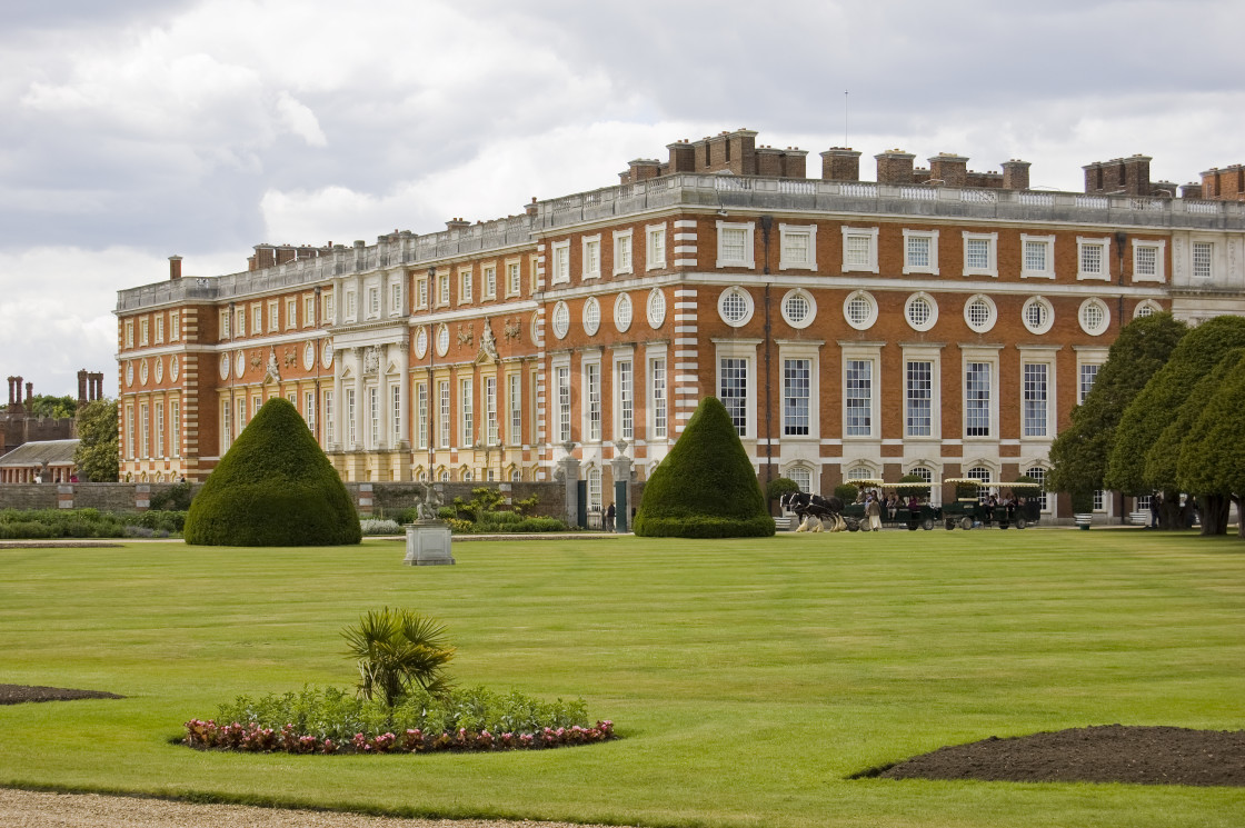 """Hampton Court Palace"" stock image"