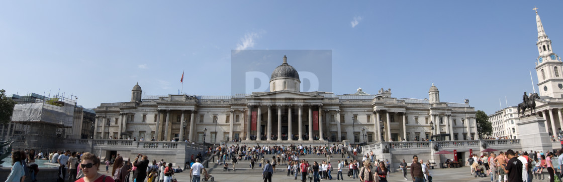 """""""Trafalgar Square Panorama"""" stock image"""