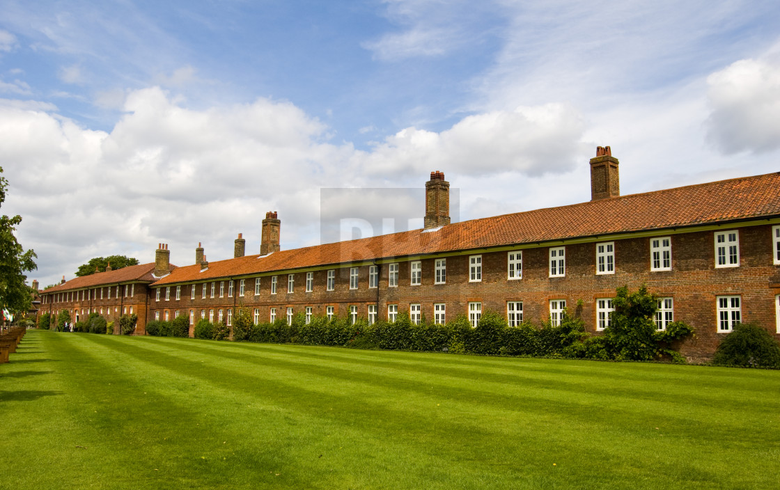 """Terraced Building outside Hampton Court Palace"" stock image"