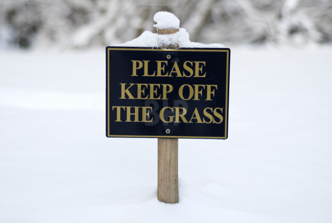 """""""Please Keep off the Grass"""" stock image"""