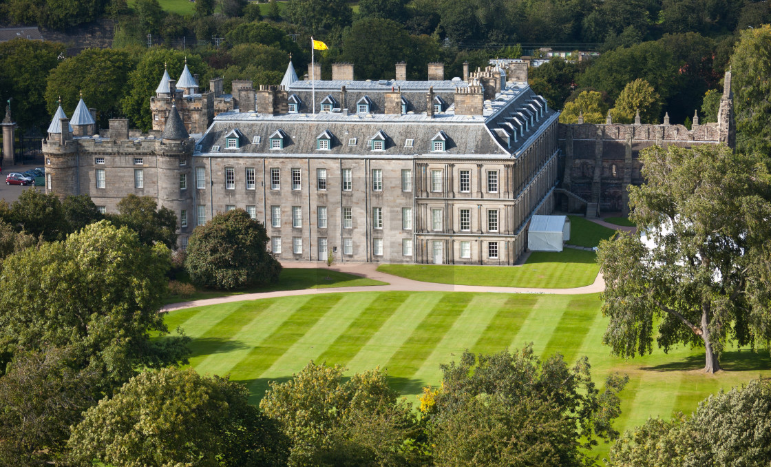 """Holyrood Palace, Edinburgh"" stock image"