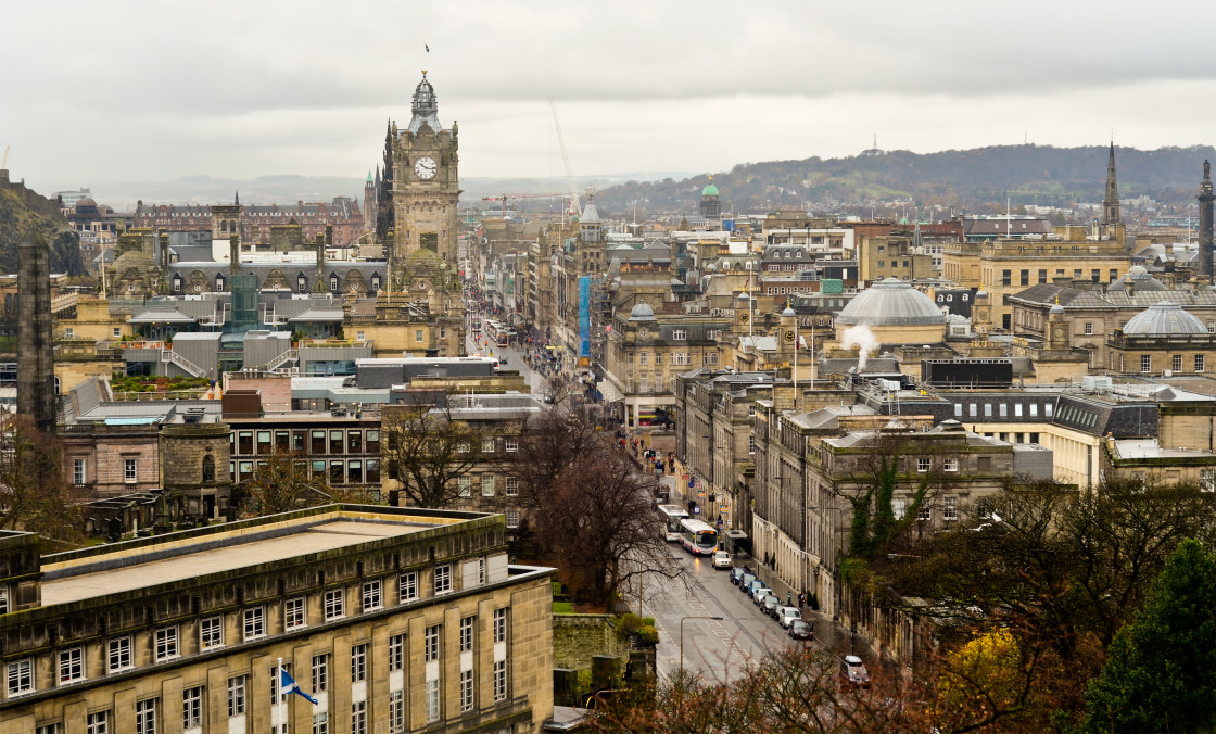 """Princes Street, Edinburgh"" stock image"