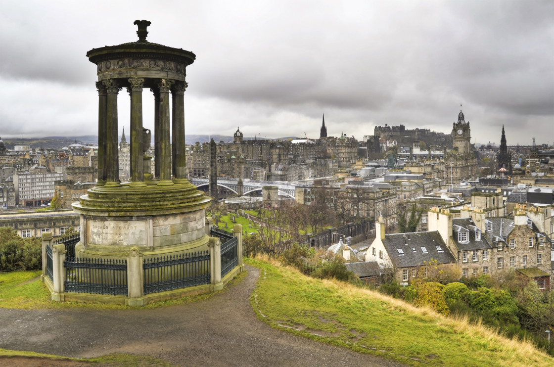 """Edinburgh from Calton Hill"" stock image"