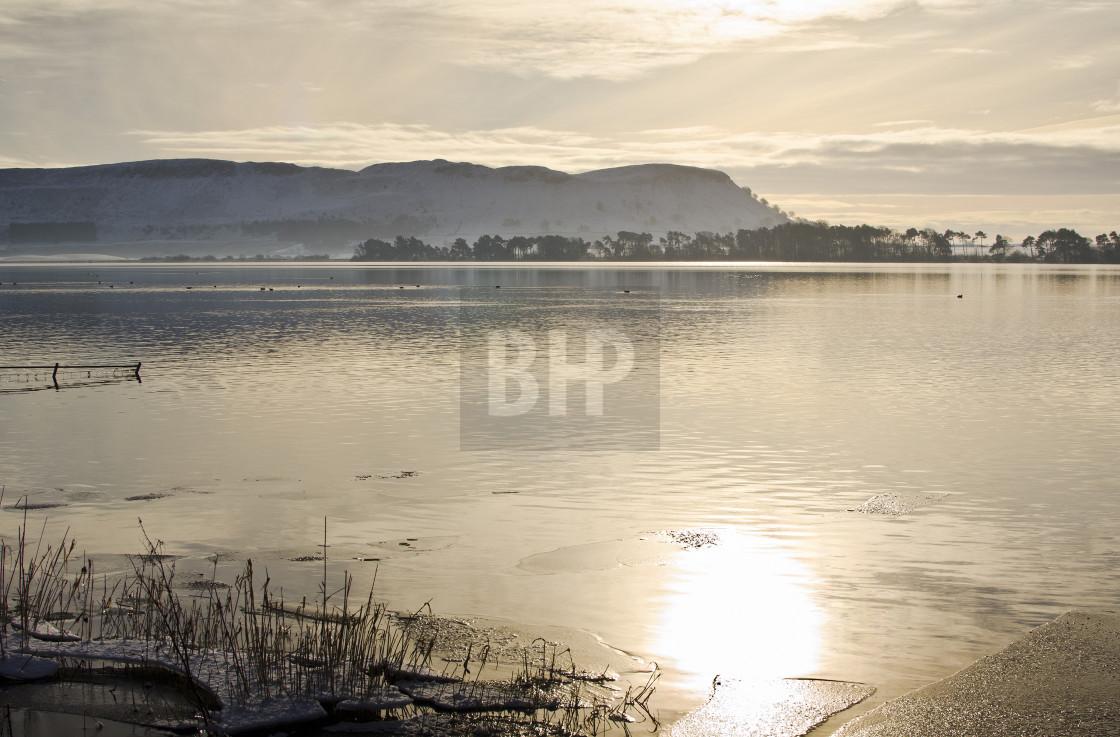 """Loch Leven, Fife, Scotland"" stock image"
