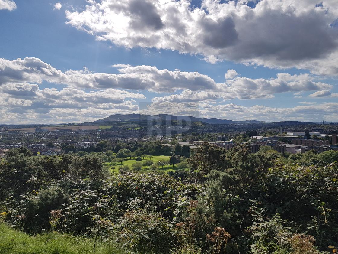 """Pentland Hills from Arthur's Seat"" stock image"