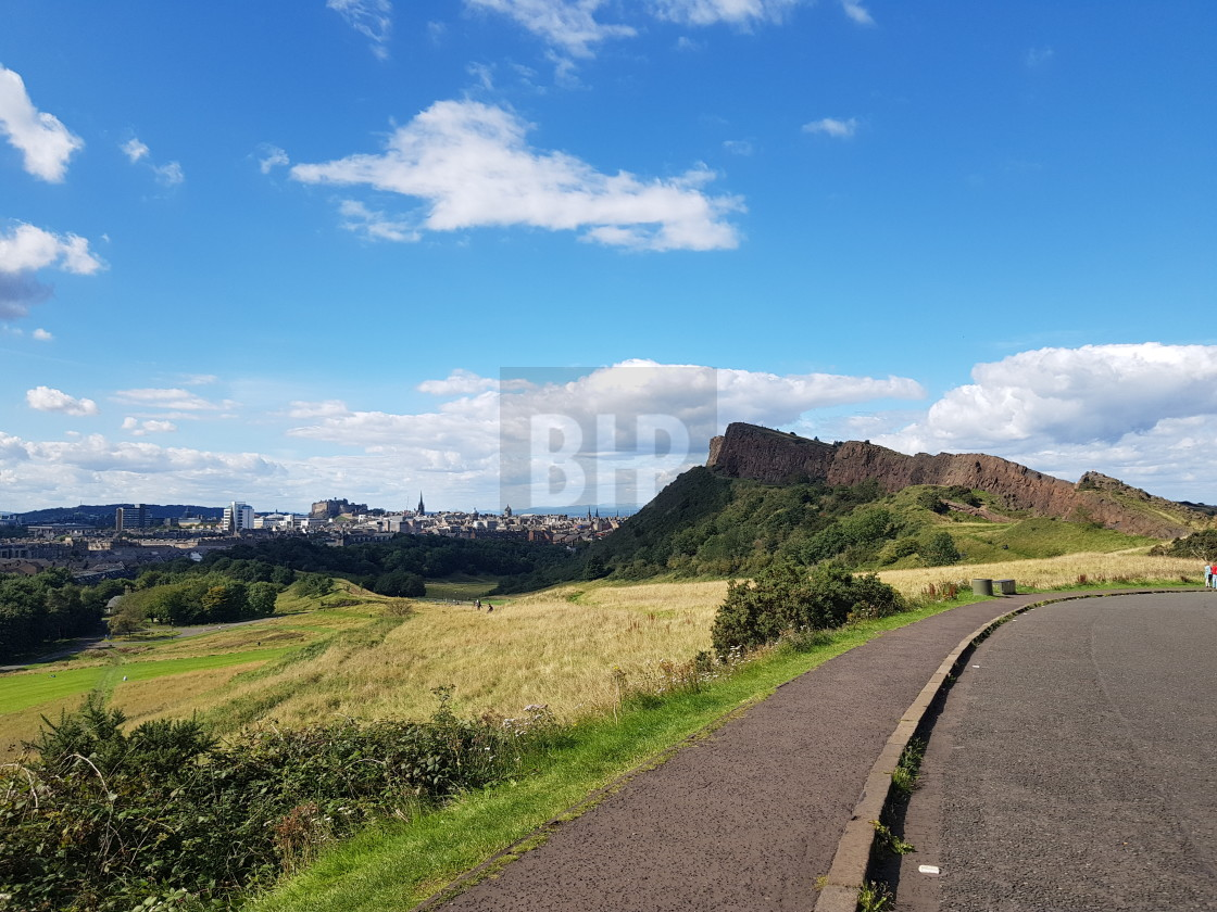 """Salisbury Crags"" stock image"
