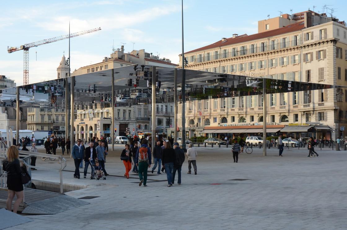 """""""Port Vieux Pavilion, Marseille"""" stock image"""