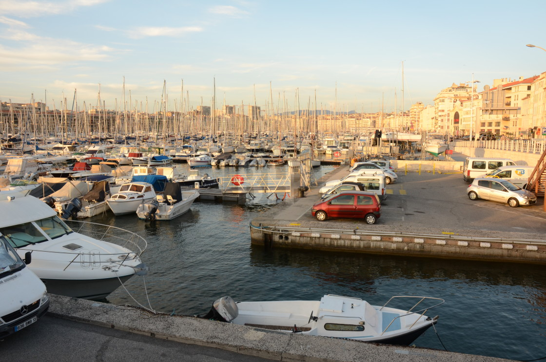 """Vieux Port, Marseille"" stock image"