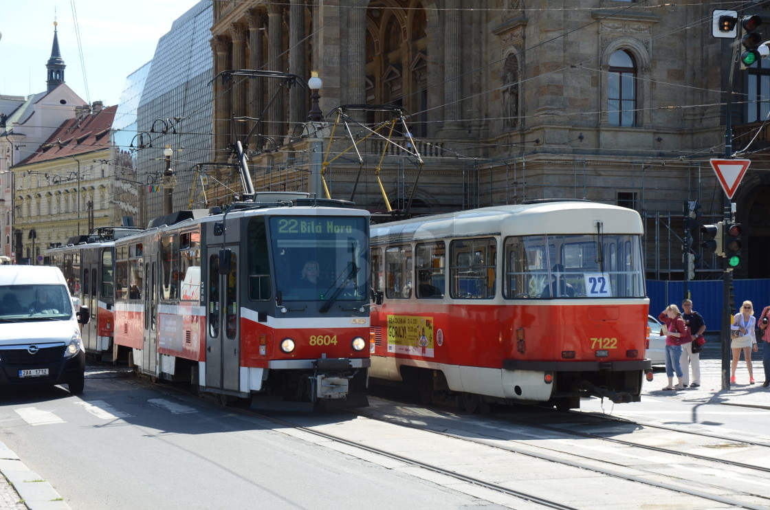 """Tram in Prague, Czechia"" stock image"
