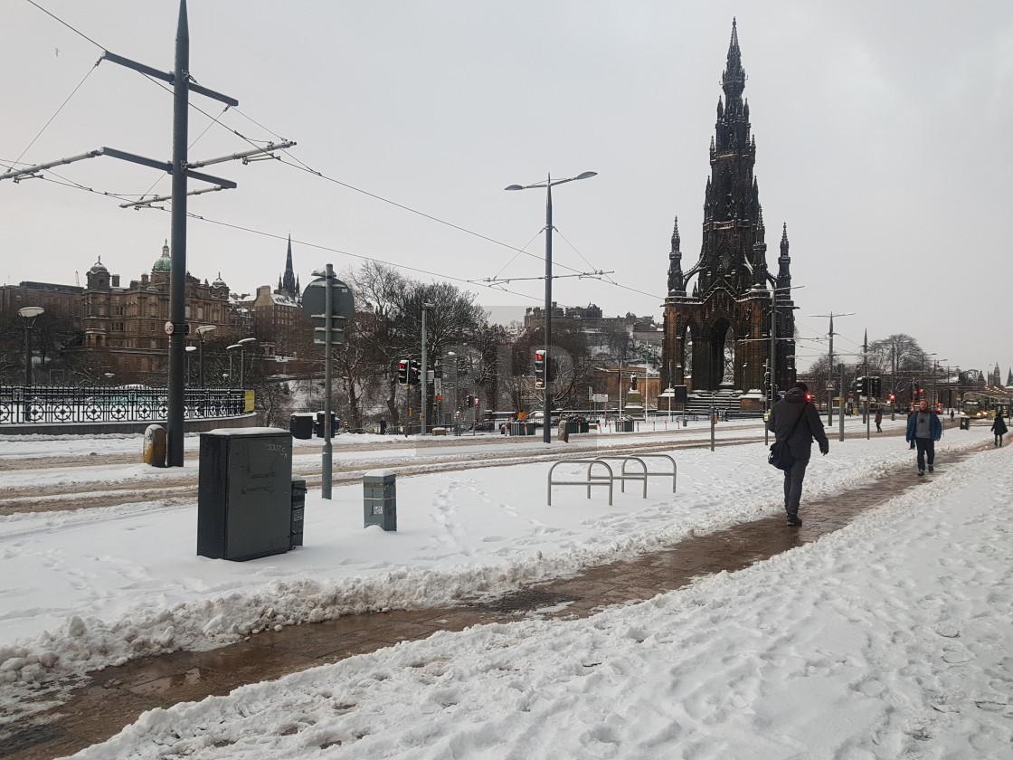 """Princes Street, Edinburgh in Winter"" stock image"