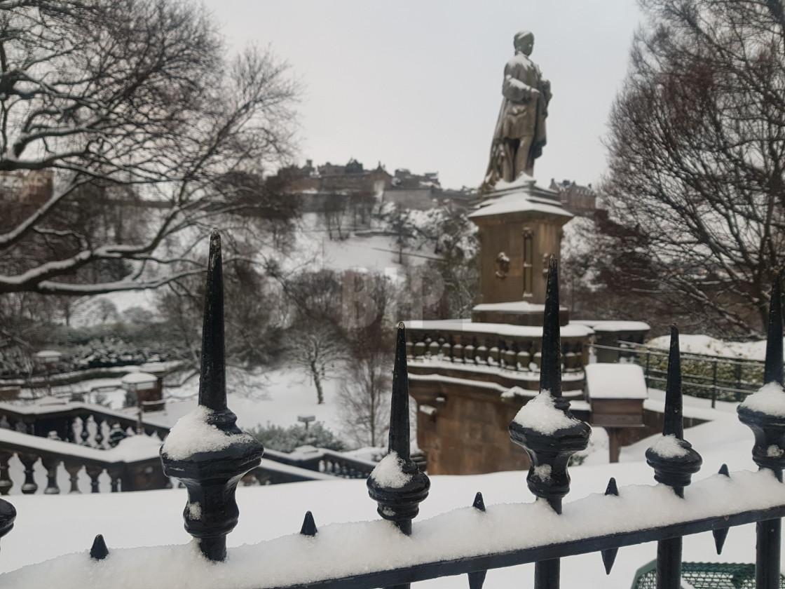 """Princes Street Gardens, Edinburgh in Winter"" stock image"