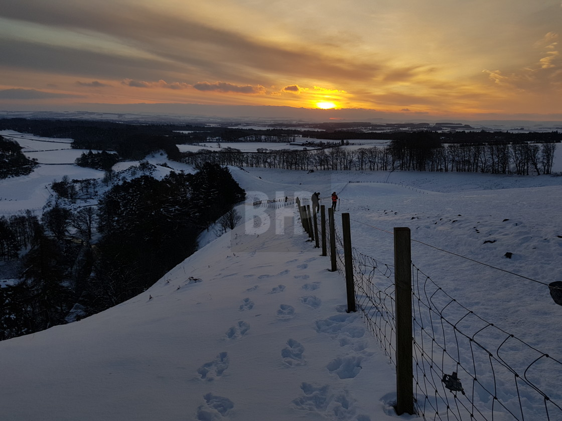 """""""View from Pentland Hills in Winter"""" stock image"""