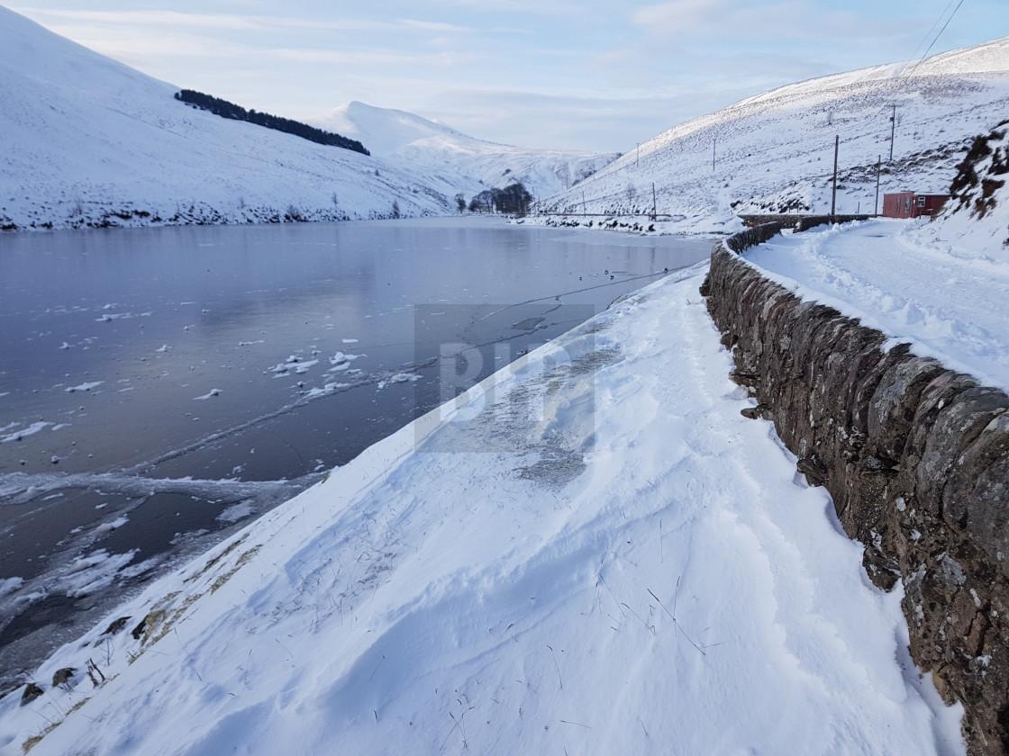 """Loganlea Reservoir, Pentland Hills, Scotland"" stock image"