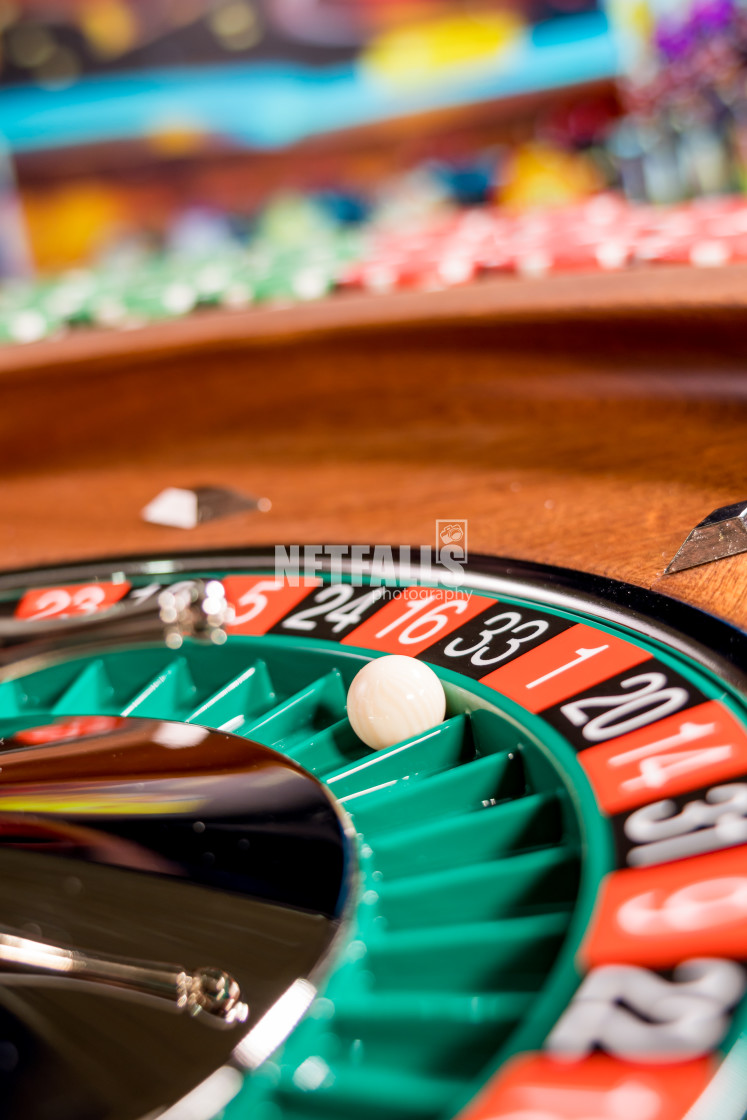 """Roulette table close up at the Casino"" stock image"