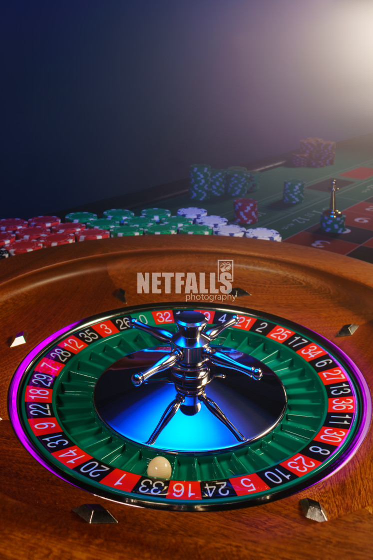 """""""Roulette table close up at the Casino"""" stock image"""