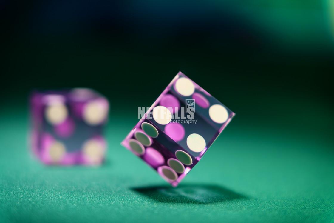 """Casino purple dice"" stock image"