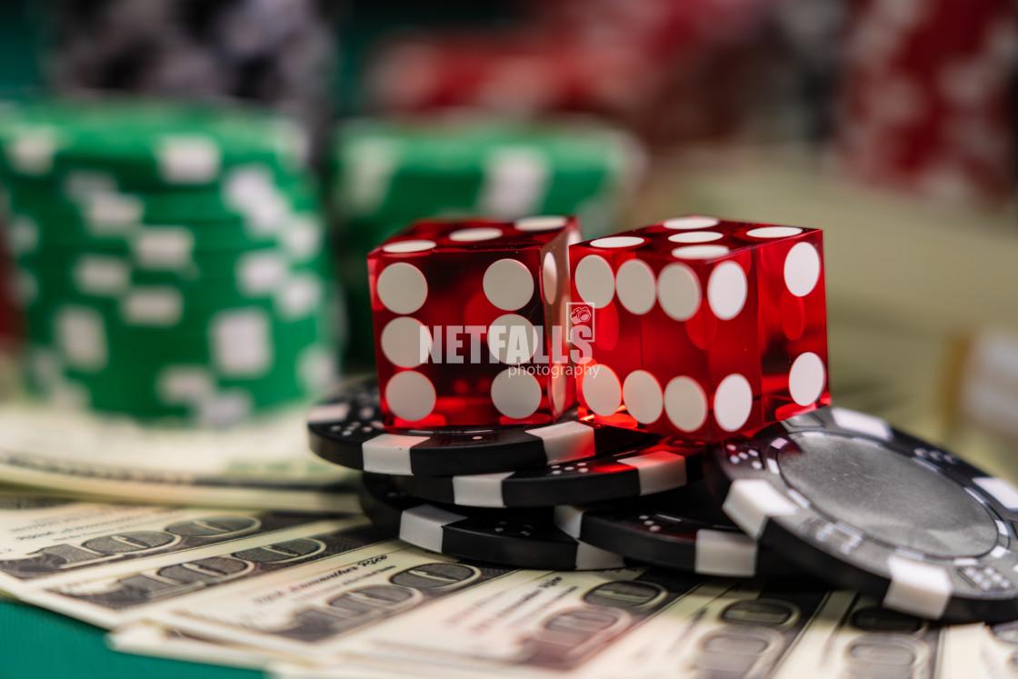 """""""Casino Craps dice close up"""" stock image"""