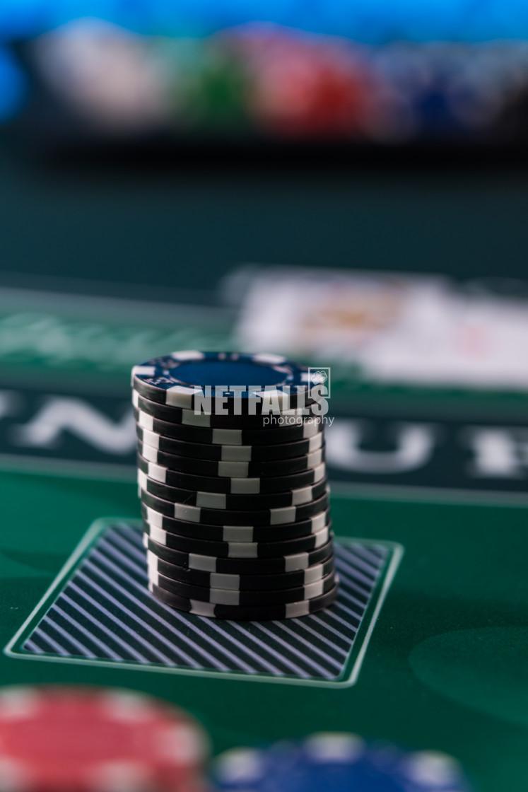 """Casino Black Jack table"" stock image"