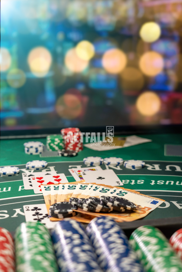 """Casino Black Jack table"" stock image"