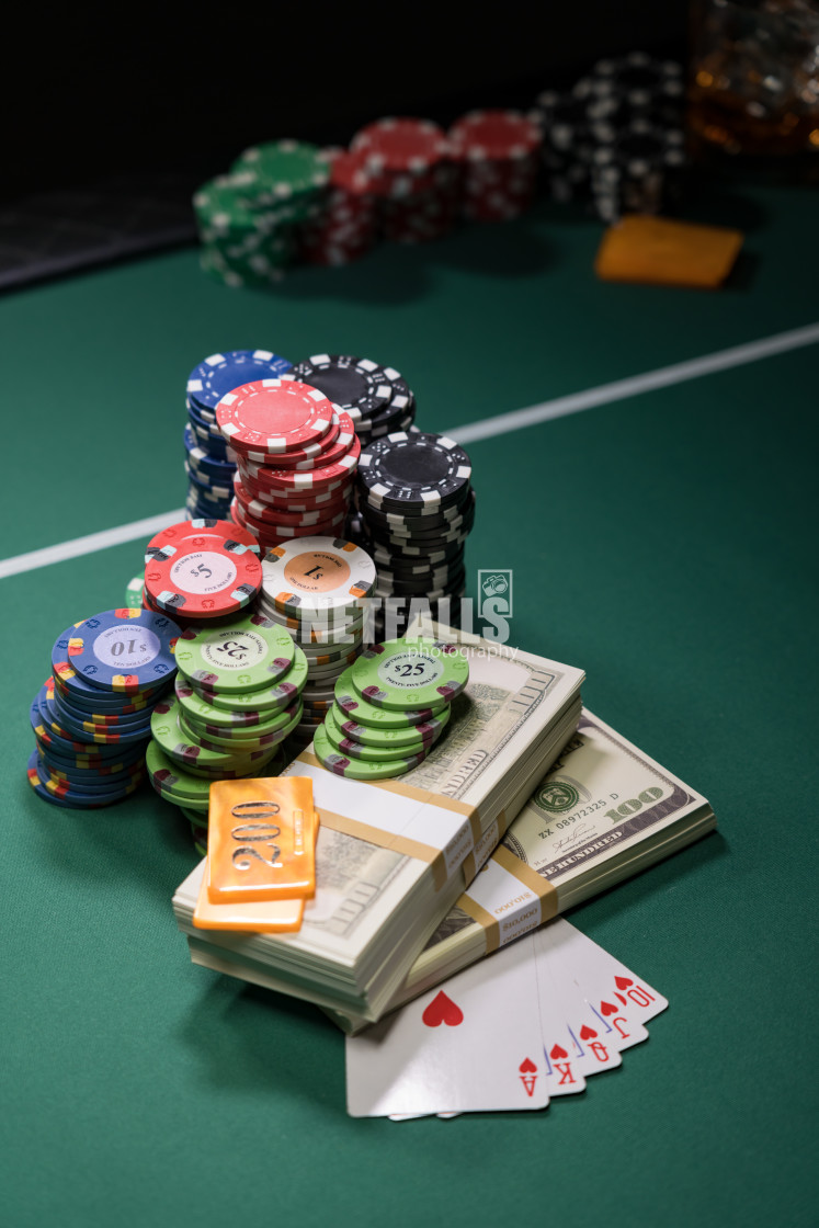 """""""Casino and US Dollars chips"""" stock image"""