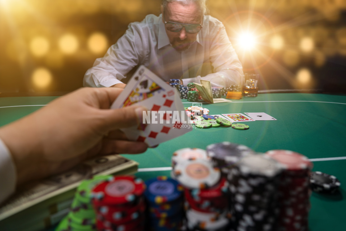 """High stakes Poker game"" stock image"