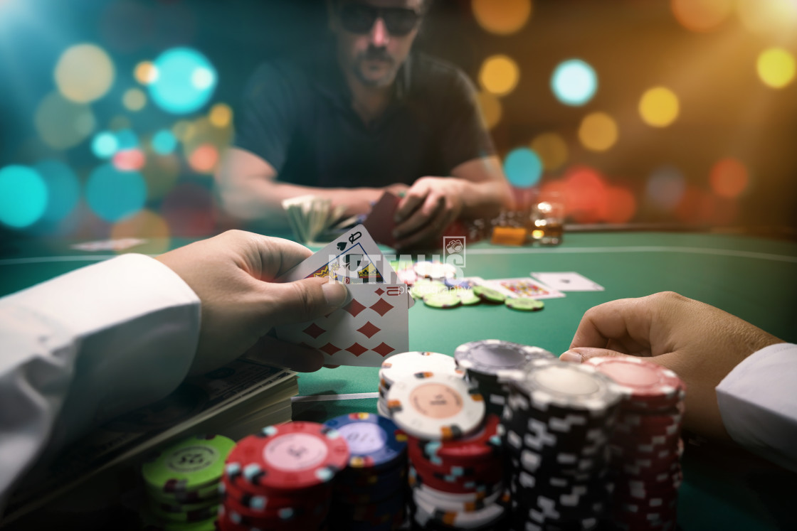 """""""High stakes Poker game"""" stock image"""