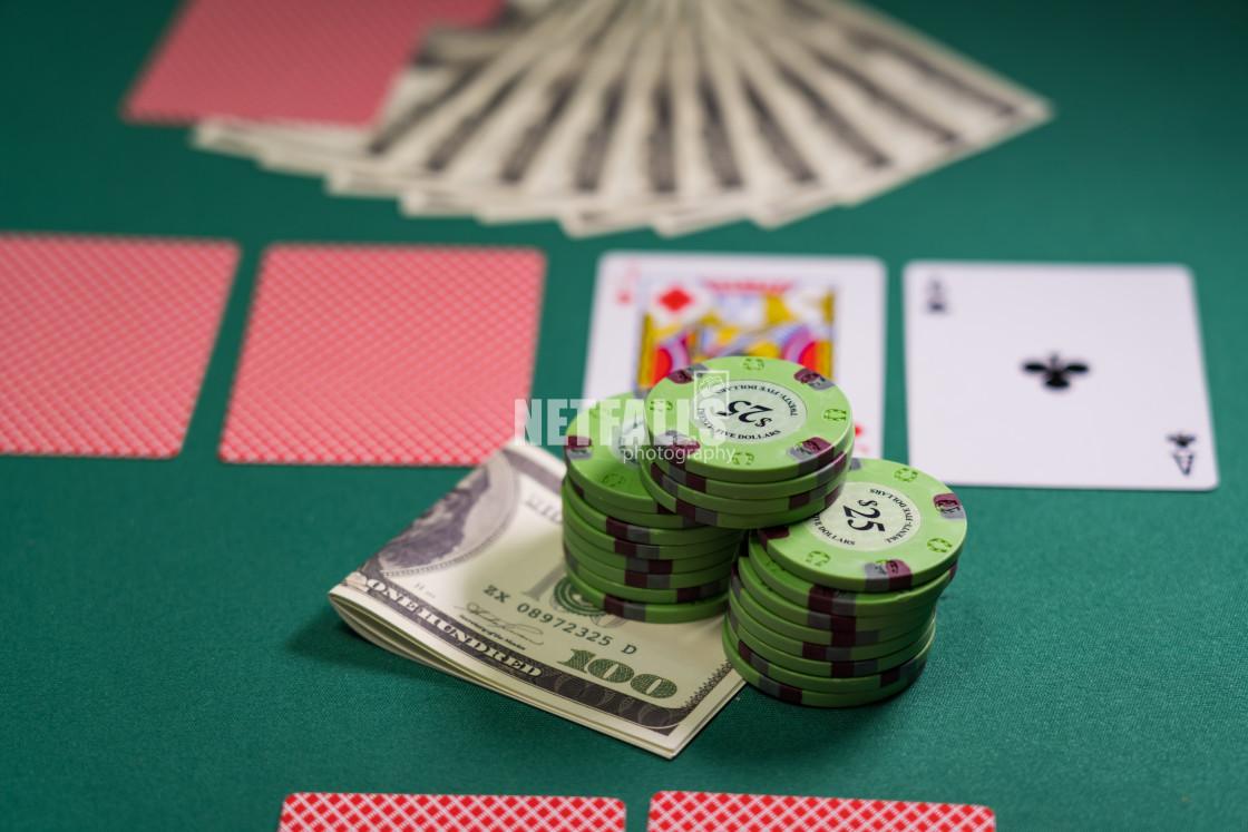 """Poker game royal flush"" stock image"
