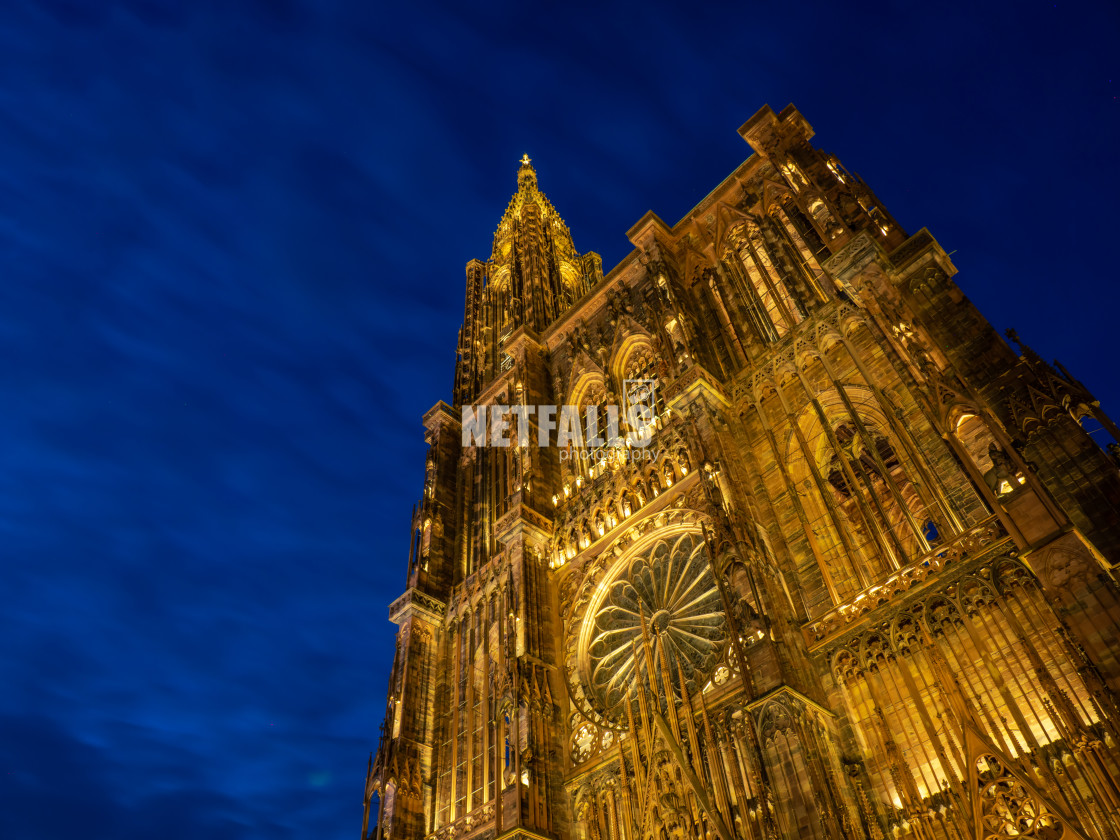 """Cathedral Notre dame de Strasbourg in Alsace"" stock image"