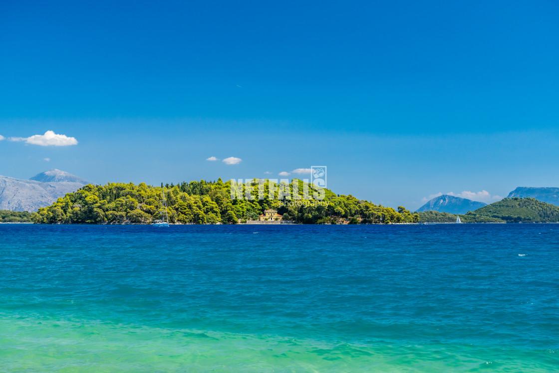 """Nidri on the island of Lefkas"" stock image"