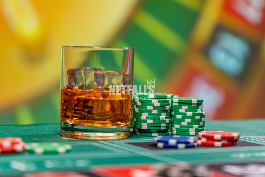 """Roulette table at the casino"" stock image"