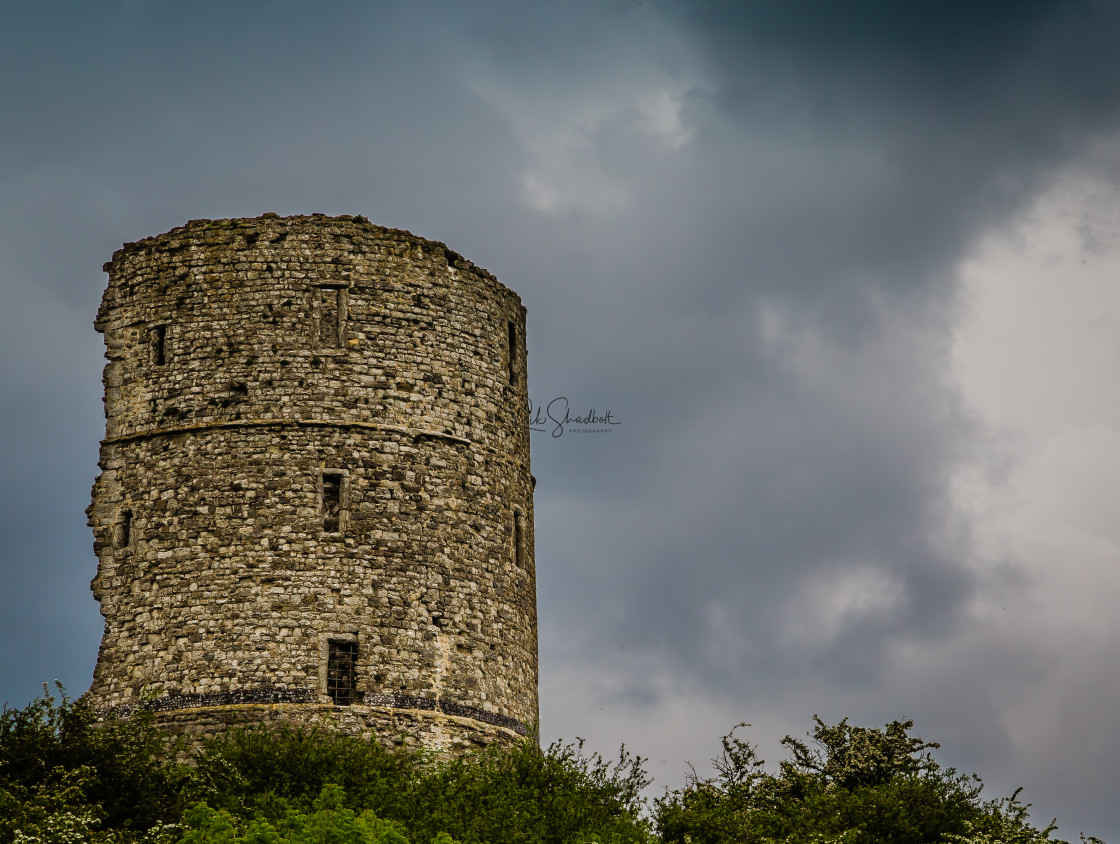 """Brooding Tower"" stock image"