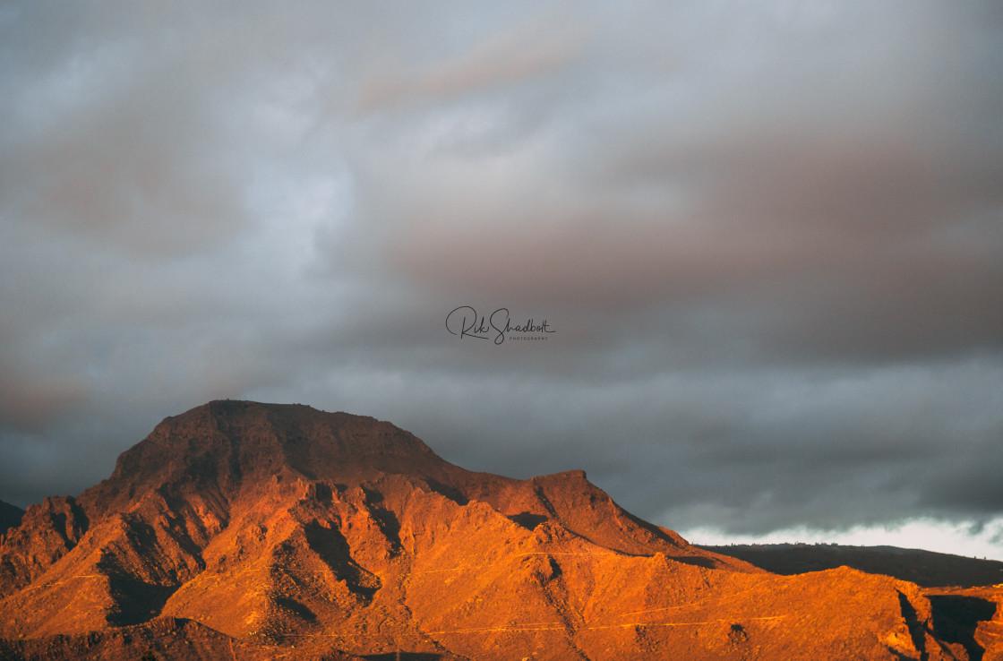 """Volcanic sunset"" stock image"