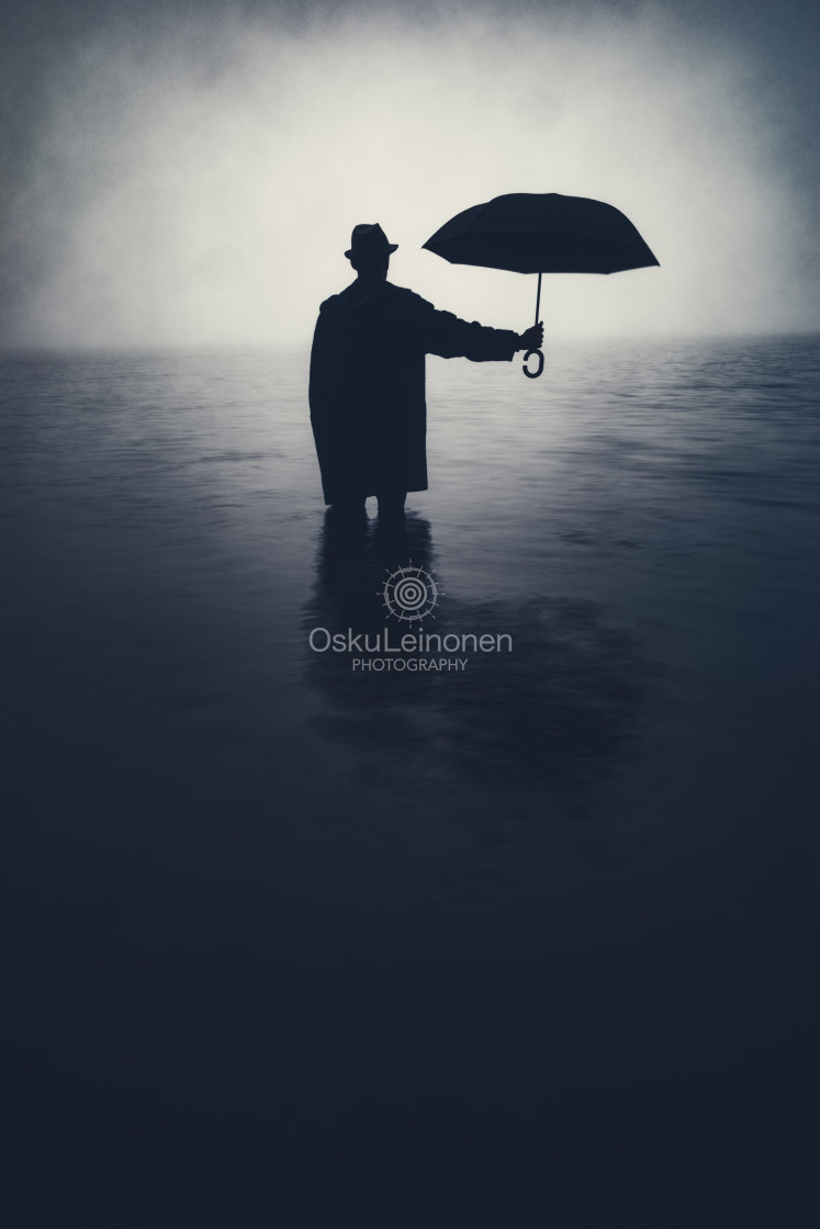 """""""Form From The Mist X (Umbrella)"""" stock image"""