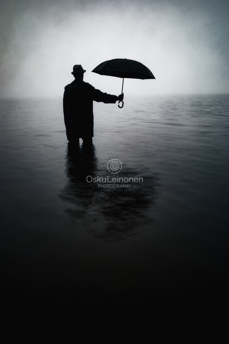 """""""Form From The Mist XII (Umbrella)"""" stock image"""