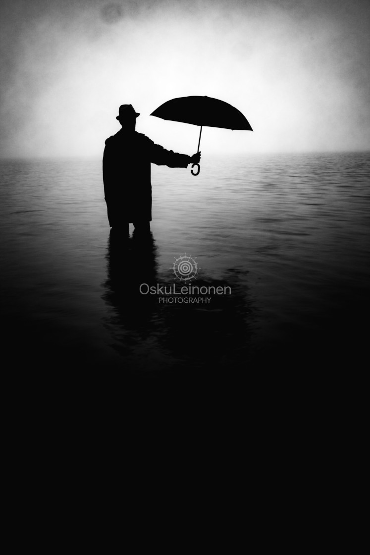 """""""Form From The Mist XIII (Umbrella)"""" stock image"""