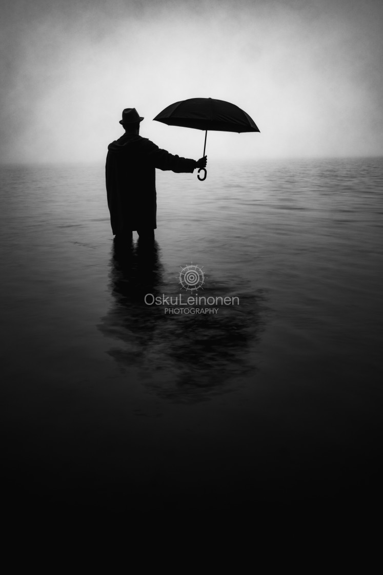 """""""Form From The Mist XI (Umbrella)"""" stock image"""