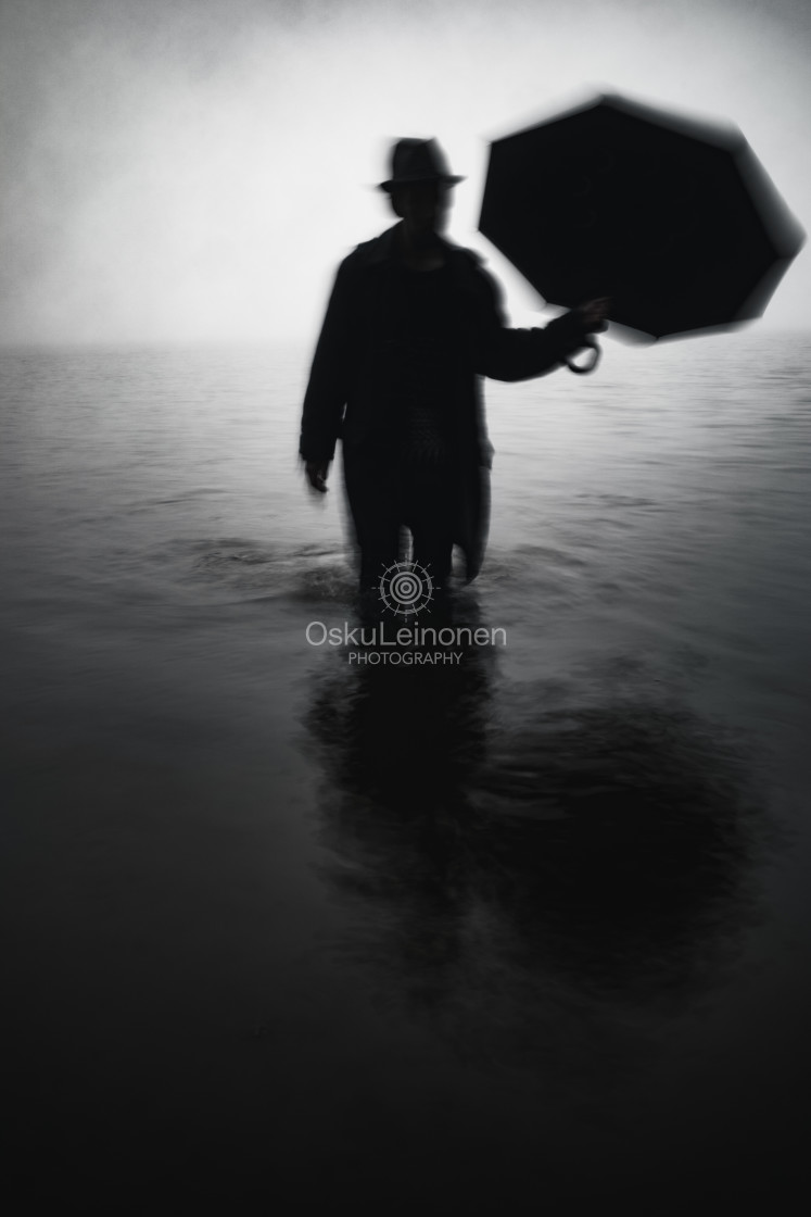 """""""Form From The Mist XV (Umbrella)"""" stock image"""