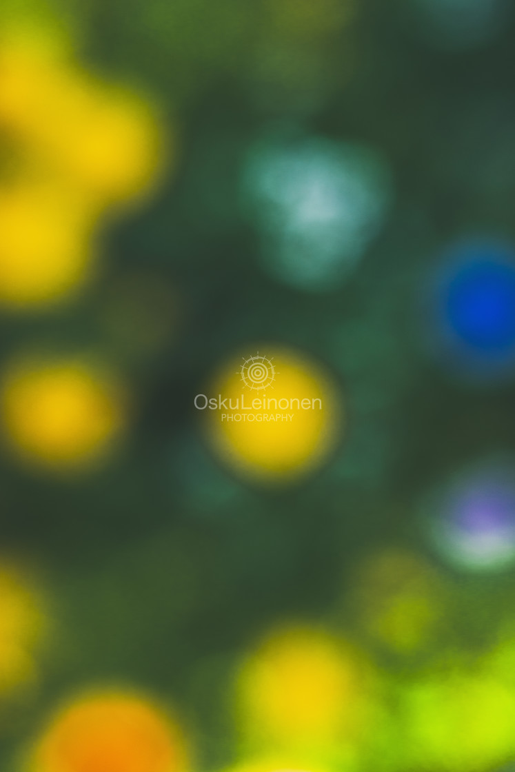 """""""Abstract Flowers XIII (Turquoise Drop)"""" stock image"""